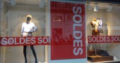 Soldes shop sign