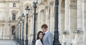 Louvre - Expat Edna engagement photos by Pictours Paris