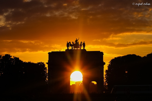 Arc de Triomphe in August - by Expat Edna