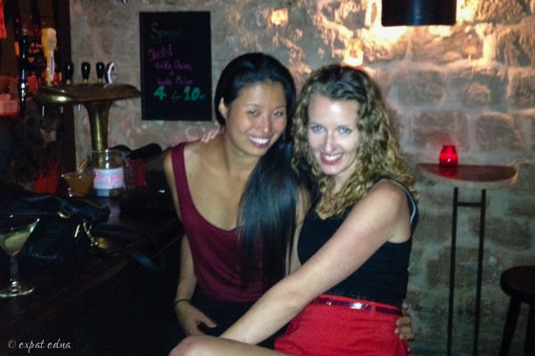 Edna and Kelly, Red House, Paris - Expat Edna