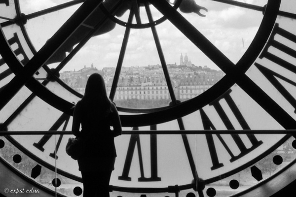 Musee d'Orsay clock by Expat Edna
