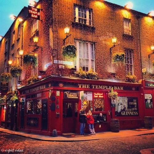 Temple Bar, Dublin at Christmas by Expat Edna.JPG