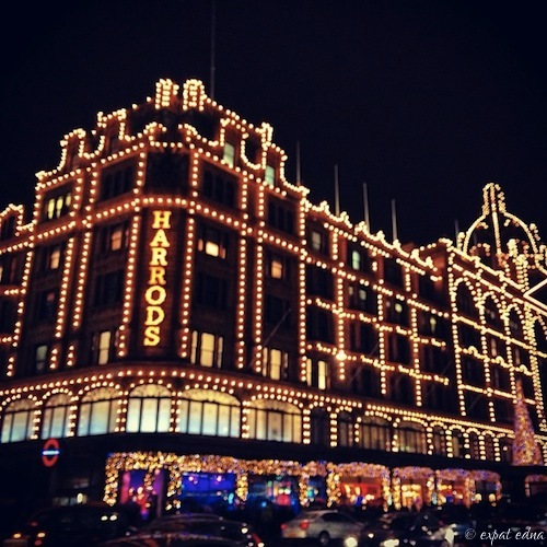 Harrods at Christmas by Expat Edna