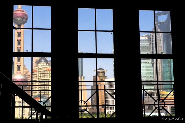 Lunch view, Mr and Mrs Bund, Shanghai by Expat Edna