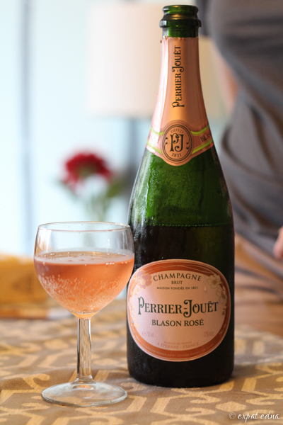 Perrier-Jouet rose champagne by Expat Edna