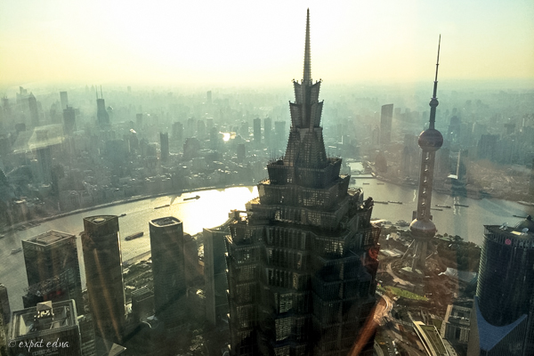 Shanghai from above by Expat Edna