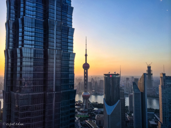 Sunset from Google Shanghai by Expat Edna