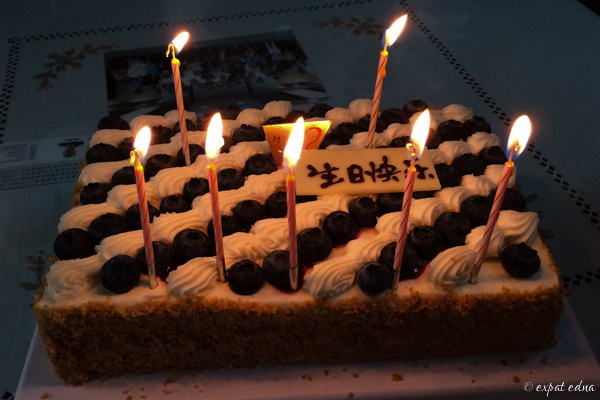 chinese millefeuille birthday cake by Expat Edna