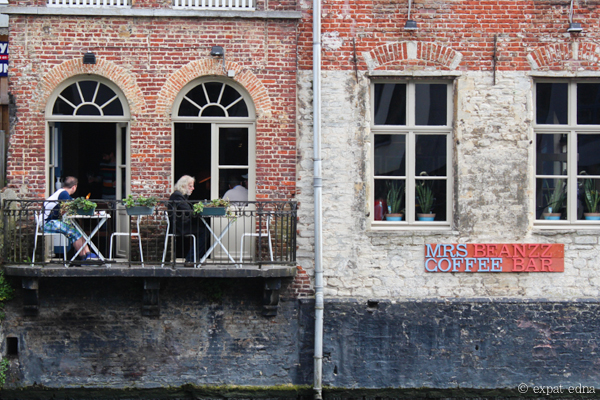 Cafe on the canal, Ghent, Belgium by Expat Edna