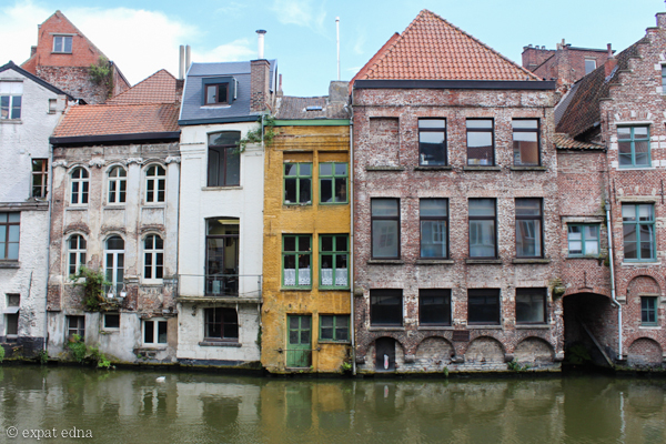 Houses on the canal, Ghent, Belgium by Expat Edna