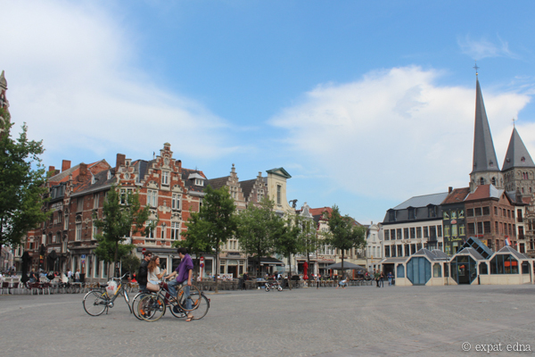 Plaza in Ghent, Belgium by Expat Edna