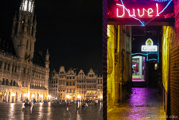 Brussels by night - Expat Edna
