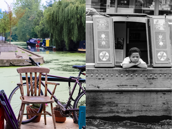 Along Regents Canal, London by Expat Edna