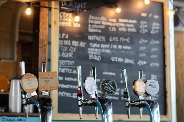 Beer taps, London by Expat Edna
