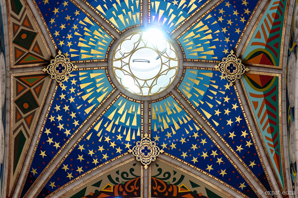Church ceiling Madrid by Expat Edna