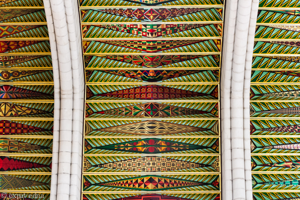 Church ceiling, Madrid by Expat Edna