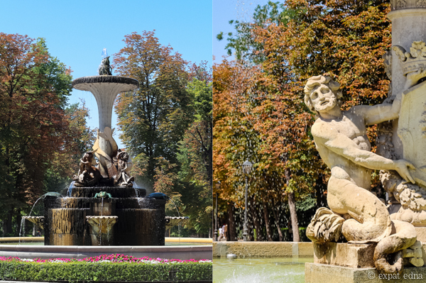 Fountains, Retiro Park, Madrid by Expat Edna
