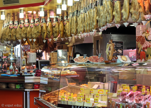Ham shop, Madrid by Expat Edna