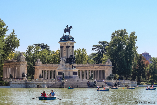 Lake, Retiro Park, Madrid by Expat Edna