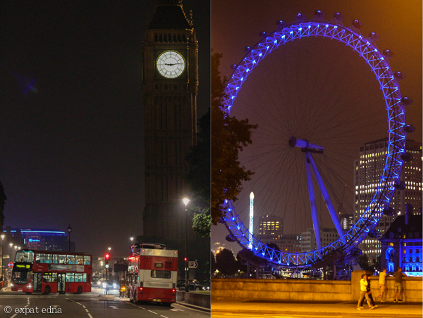 London by night by Expat Edna