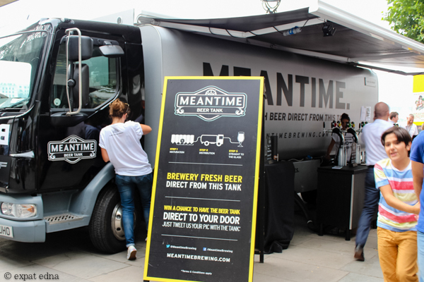 Meantime beer tank, London by Expat Edna