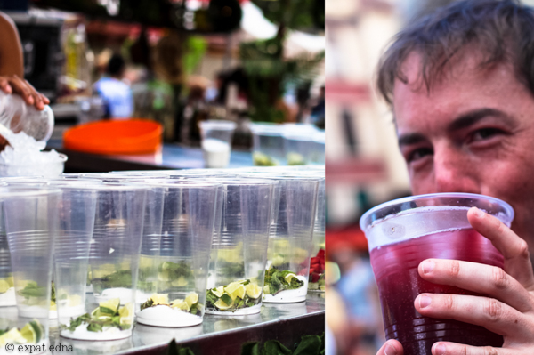 Mojitos and sangria on the street, Madrid by Expat Edna
