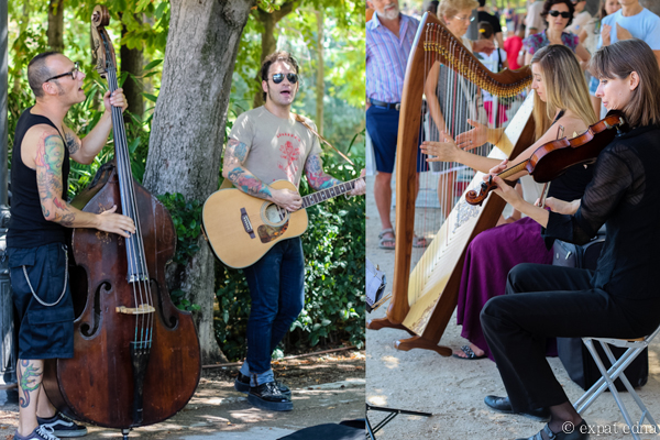 Musicians in Retiro Park, Madrid by Expat Edna