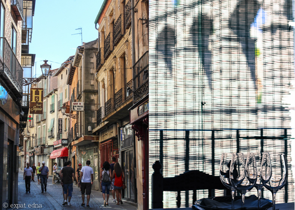 Streets and windows of Segovia by Expat Edna
