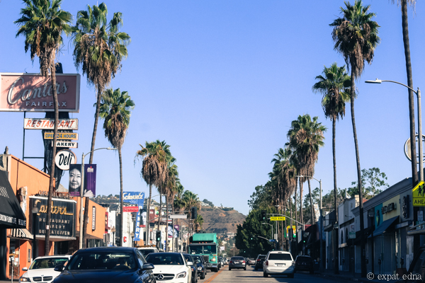 Canter's and palm trees, LA by Expat Edna