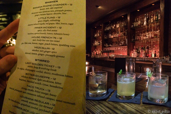 Cocktails at The Corner Door, LA by Expat Edna