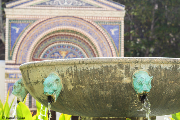 Fountains, Getty Villa, LA by Expat Edna