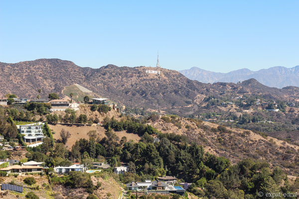 Hollywood Sign from Runyon Canyon, LA by Expat Edna