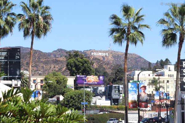 Hollywood sign, LA by Expat Edna