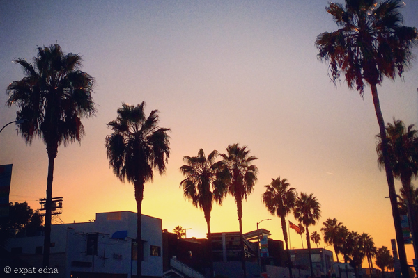 LA sunset by Expat Edna