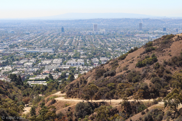 Runyon Canyon view, LA by Expat Edna