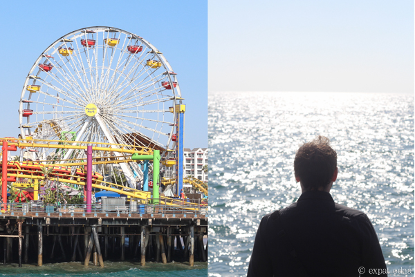 Santa Monica Pier and Joe, LA by Expat Edna