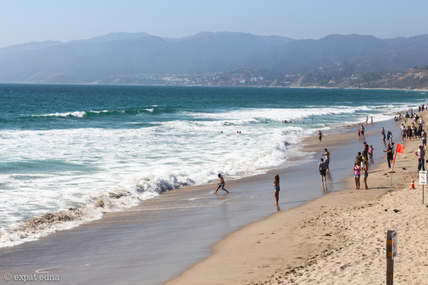 Santa Monica beach, LA by Expat Edna