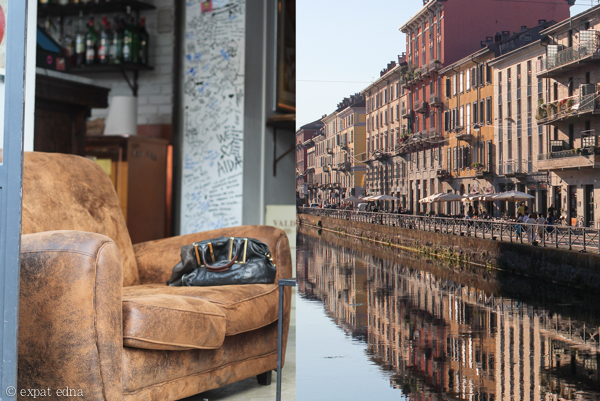 Sofa Cafe along the Canal, Milan by Expat Edna