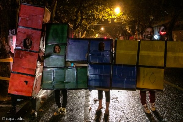 Tetris Halloween in Shanghai by Expat Edna