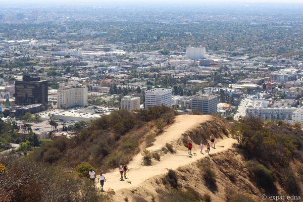 View down Runyon Canyon, LA by Expat Edna