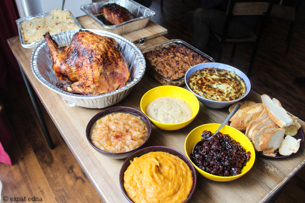 Thanksgiving spread 2014, Shanghai by Expat Edna
