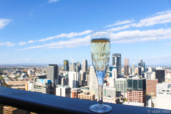 Champagne on the balcony, Melbourne by Expat Edna