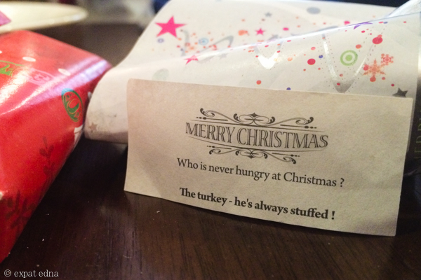 Christmas crackers by Expat Edna
