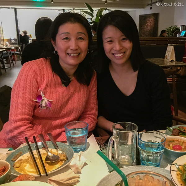 Edna and mom, Shanghai by Expat Edna