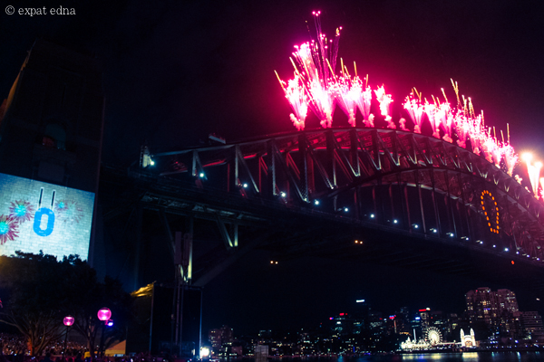 Midnight on NYE, Sydney by Expat Edna