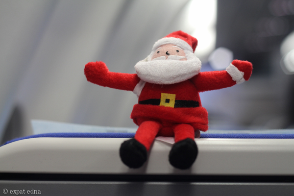 Santa on China Eastern by Expat Edna