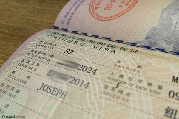 Ten-year Chinese visa by Expat Edna