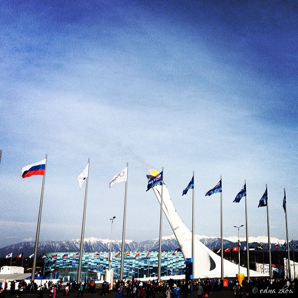 Sochi 2014 Olympic Park flags by Edna Zhou