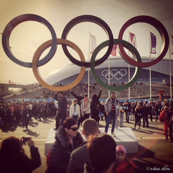 Sochi 2014 Olympic park rings by Edna Zhou