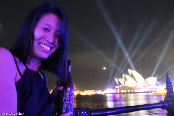 Sydney NYE - Edna and Champagne by Expat Edna